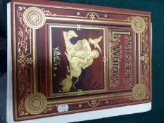 VIRTUE & Co. LANDSEER'S WORKS, A MID 19th.C.VOLUME OF STEEL ENGRAVINGS TOGETHER WITH A STUDIO