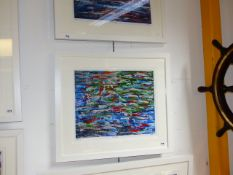 D.DALTON. CONTEMPORARY SCHOOL. ARR. THE CROSSING, A SIGNED LIMITED EDITION COLOUR GICLEE PRINT. 44 x