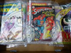 A COLLECTION OF VINTAGE COMICS MAINLY DC AND ARCHIE TO INCLUDE SUPERMAN INC NO.199, STRANGE