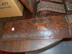 A GROUP OF 19th.C.CARVED OAK ARCHITECTURAL ELEMENTS. (QTY)