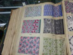 AN UNUSUAL VINTAGE EARLY TO MID 20th.C.LARGE BOUND VOLUME OF TEXTILE SAMPLES CONTAINING HUNDREDS