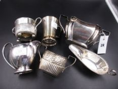 A SELECTION OF VICTORIAN AND LATER SILVER HALLMARKED TABLEWARE. VARIOUSLY DATED BETWEEN 1893-1930,