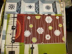 AN INTERESTING COLLECTION OF VINTAGE AND RETRO WALLPAPER SAMPLES AND DESIGNS, MANY IDENTIFIED
