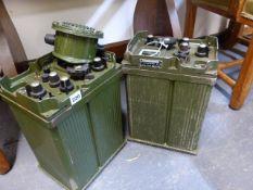 TWO MILITARY RADIO RECEIVERS, RECEIVER-RADIO-R210.