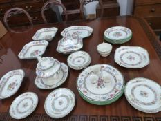 A COLLECTIVE LOT OF SPODE DINNER WARES ( QTY)
