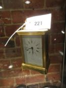 A L'EPEE CARRIAGE TIMEPIECE RETAILED BY ASPREY'S TOGETHER WITH A SWISS CARRIAGE TIMEPIECE WITH