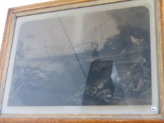 JOHN MARTIN. (1789-1854) THE LAST JUDGEMENT, A FOLIO ENGRAVING IN MAPLE FRAME WITH GILT LINER. 83