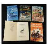 MONICA EDWARDS: 5 titles: BLACK HUNTING WHIP, London, 1950, 1st edition, original cloth, dust-