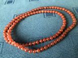 Lot 60 - Chinese Agate bead necklace, 86cmL