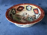 Lot 53 - Chinese Imari pattern circular dish decorated with figures & panels, 21cm dia