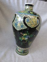 Lot 37 - Chinese famille rose vase with 6 figure character mark to base