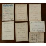 Collection of 24 admission tickets to lectures which Alfred Swaine Taylor attended,
