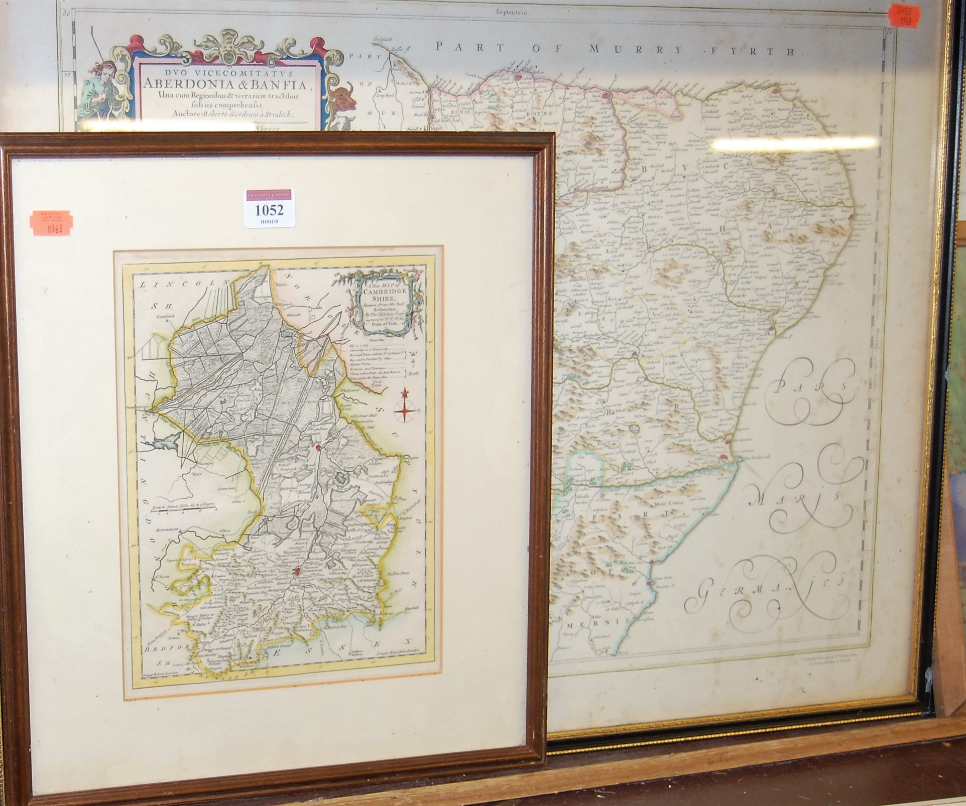 Lot 1052 - Thomas Kitchin - New map of Cambridgeshire, engraving with later hand-coloured borders, 26 x 20cm;