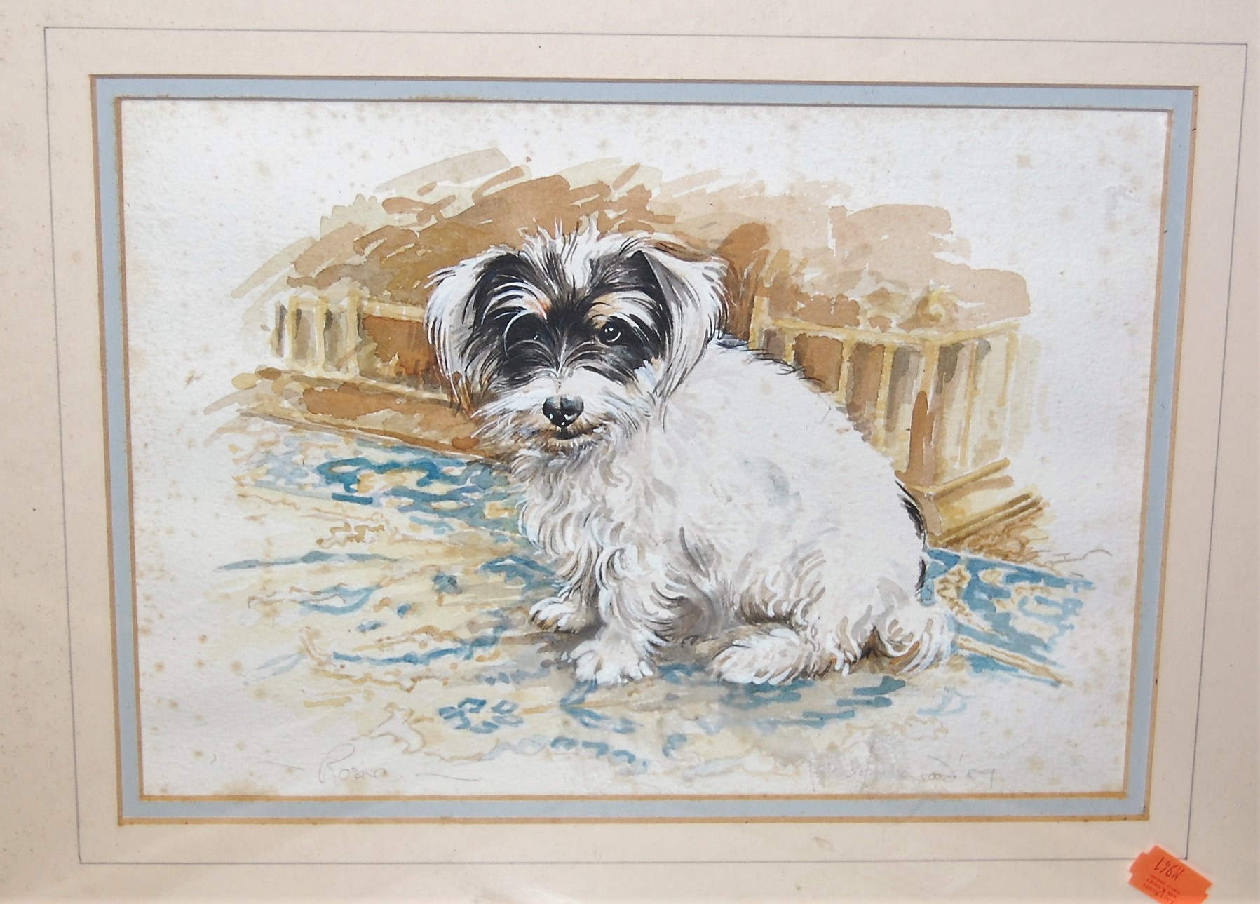 Lot 1032 - Assorted watercolour drawings, to include study of Rosie (5)