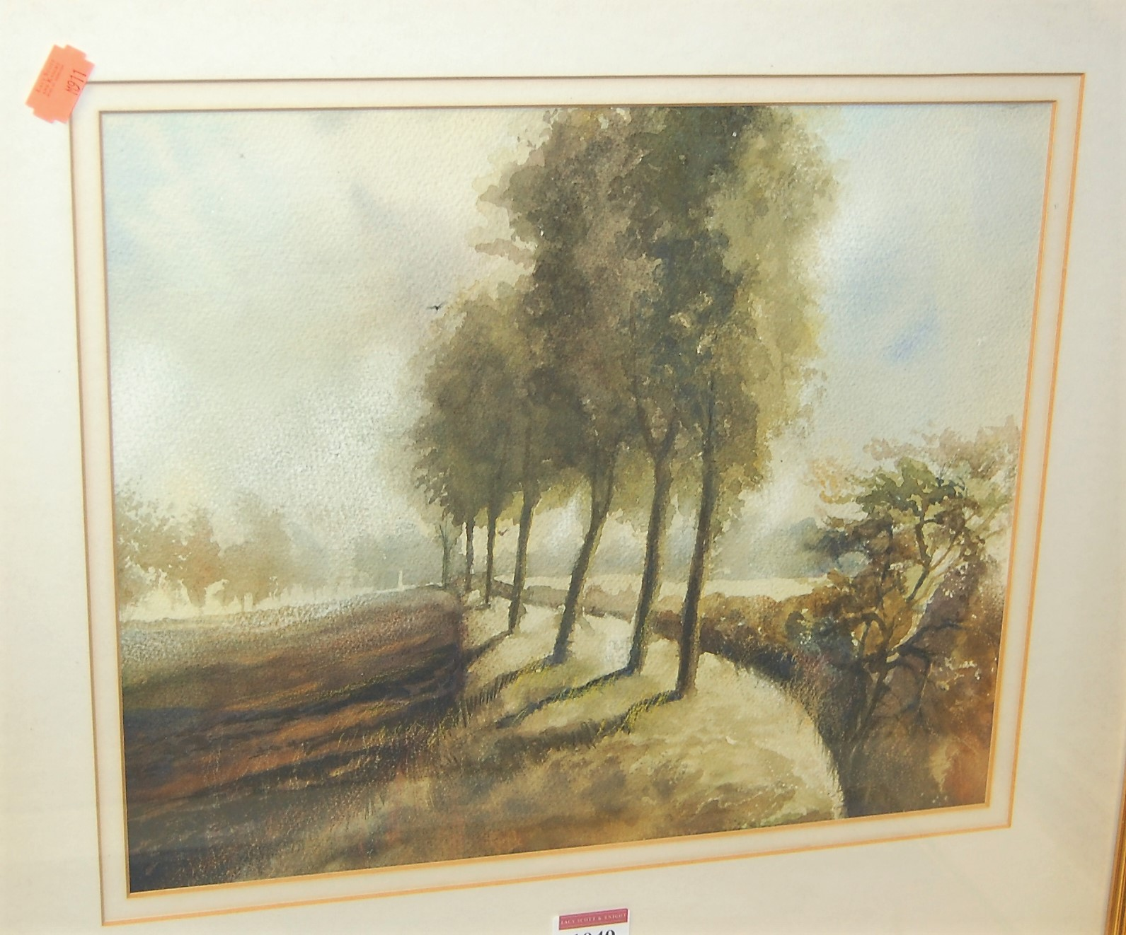 Lot 1049 - Assorted prints, to include; Saxton's map of Essex, David Shepherd etc (4)