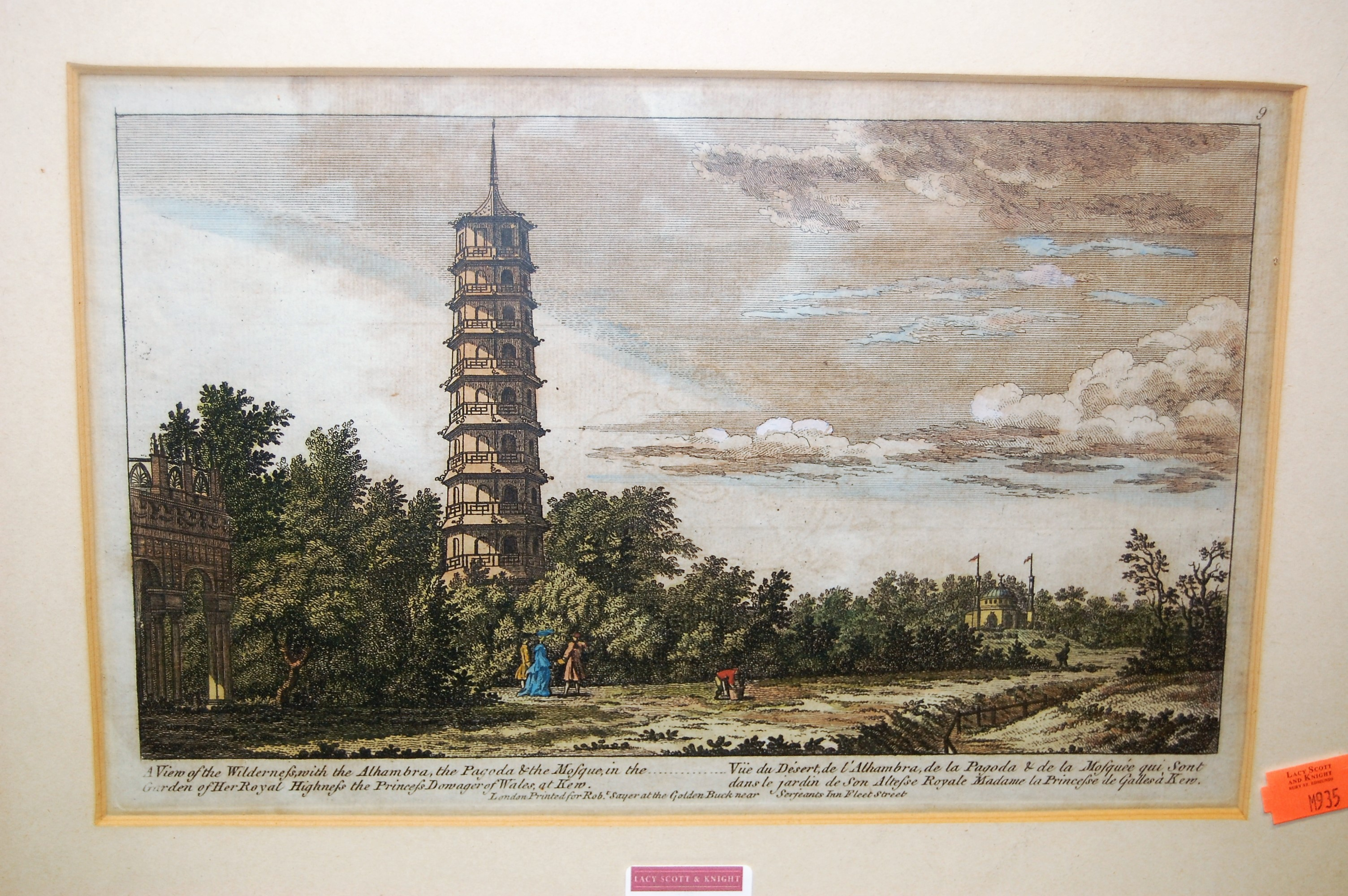 Lot 1044 - A quantity of topographical colour engravings, to include Kew Bridge and Gardens