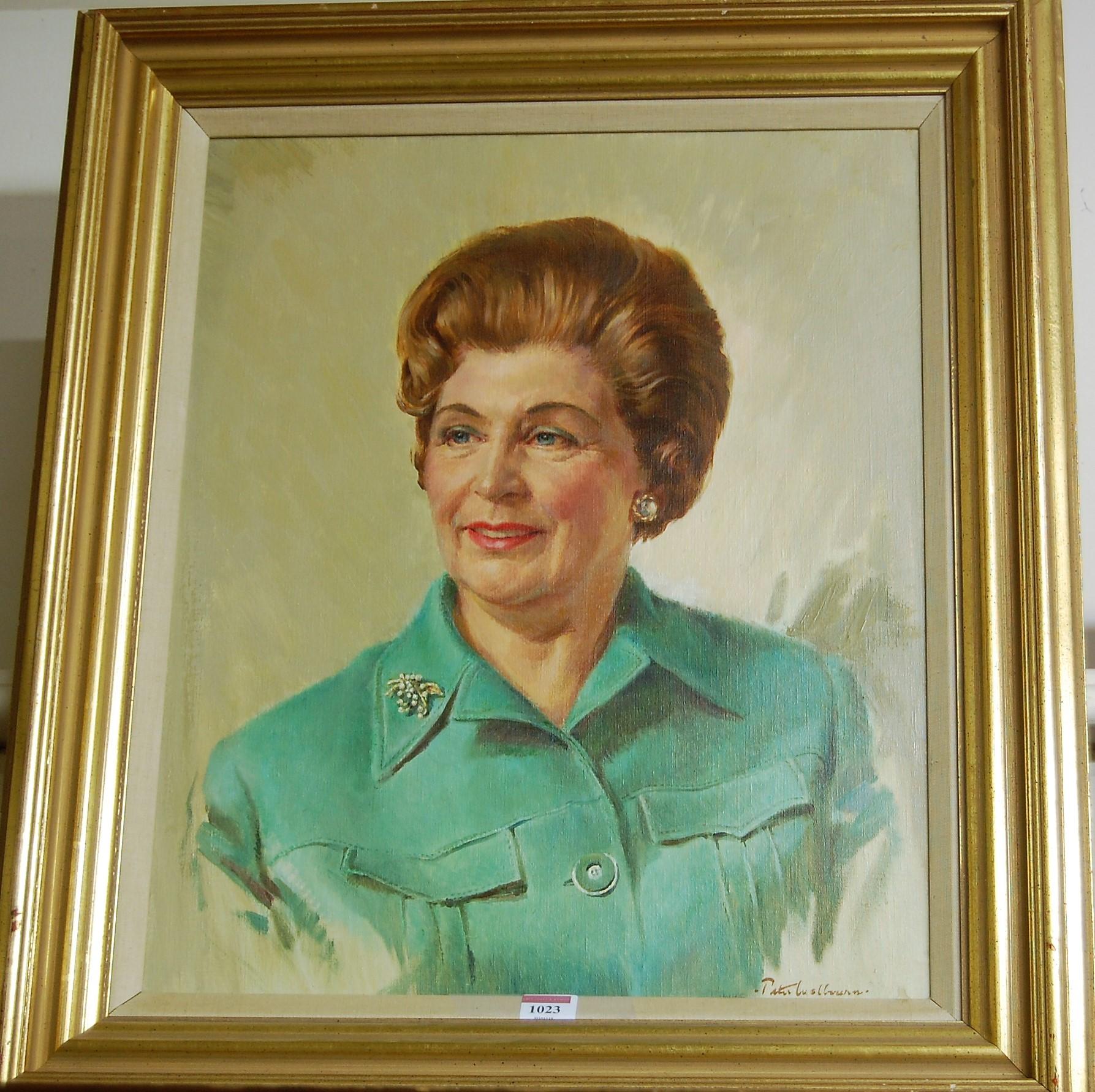 Lot 1023 - Peter Welbourn - Bust portrait study, oil on canvas, 54 x 44cm