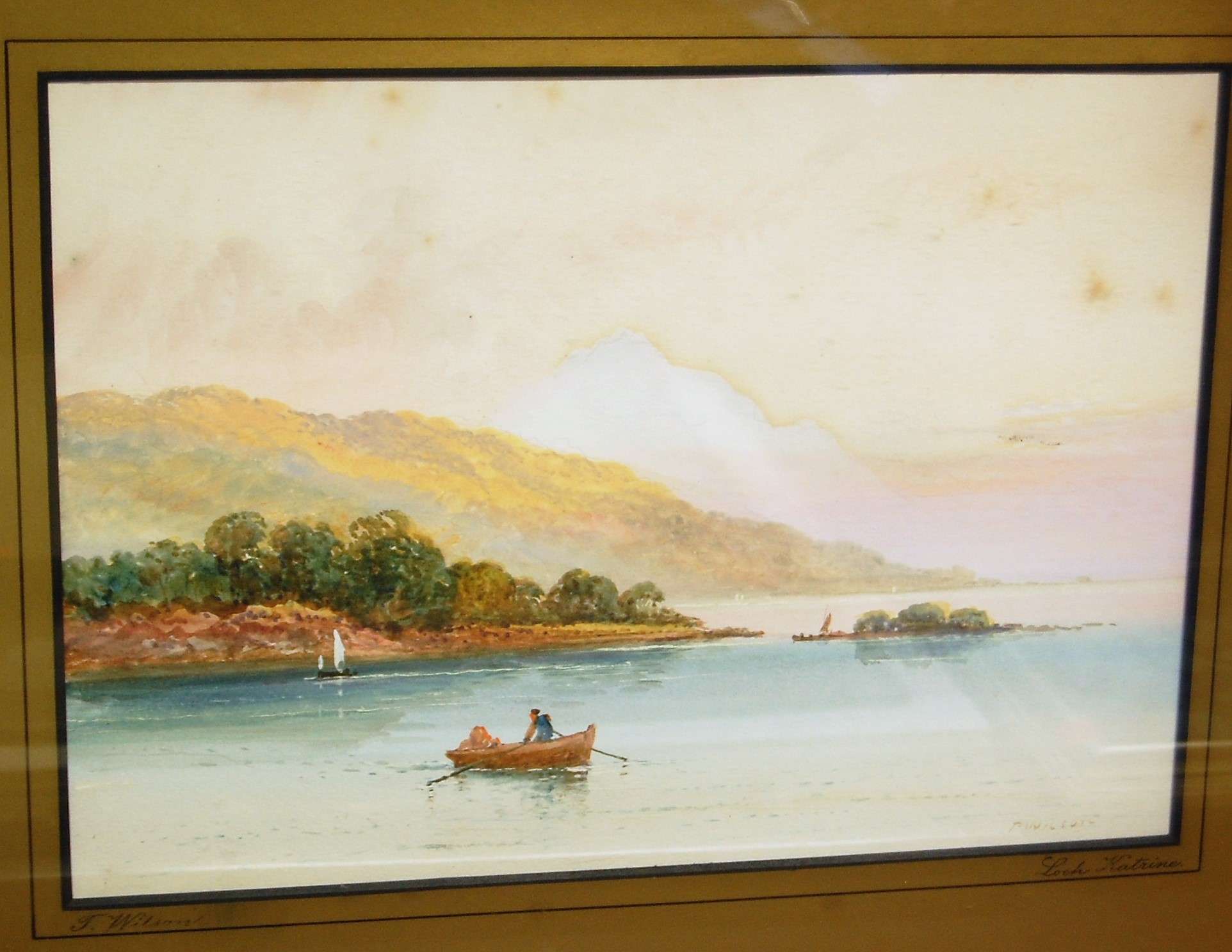 Lot 1039 - T. Wilson - Pair; Loch Katrine and Loch Long, watercolours, each 24 x 35cm