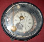 Lot 742 - A J. Blackman of Peterborough wooden cased and boulle-work wall clock, with pendulum and original