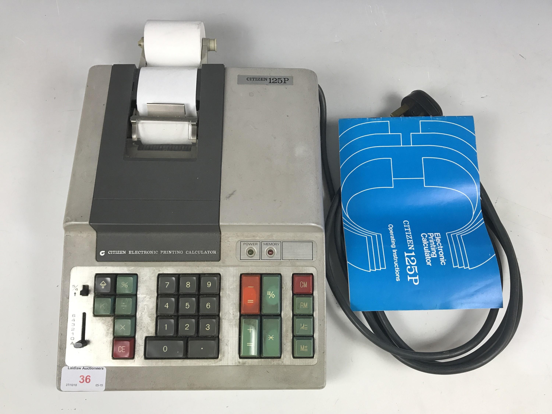 Lot 36 - A Citizen 125P electronic printing calculator