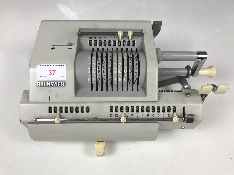 Lot 37 - A vintage Brunsviga adding machine
