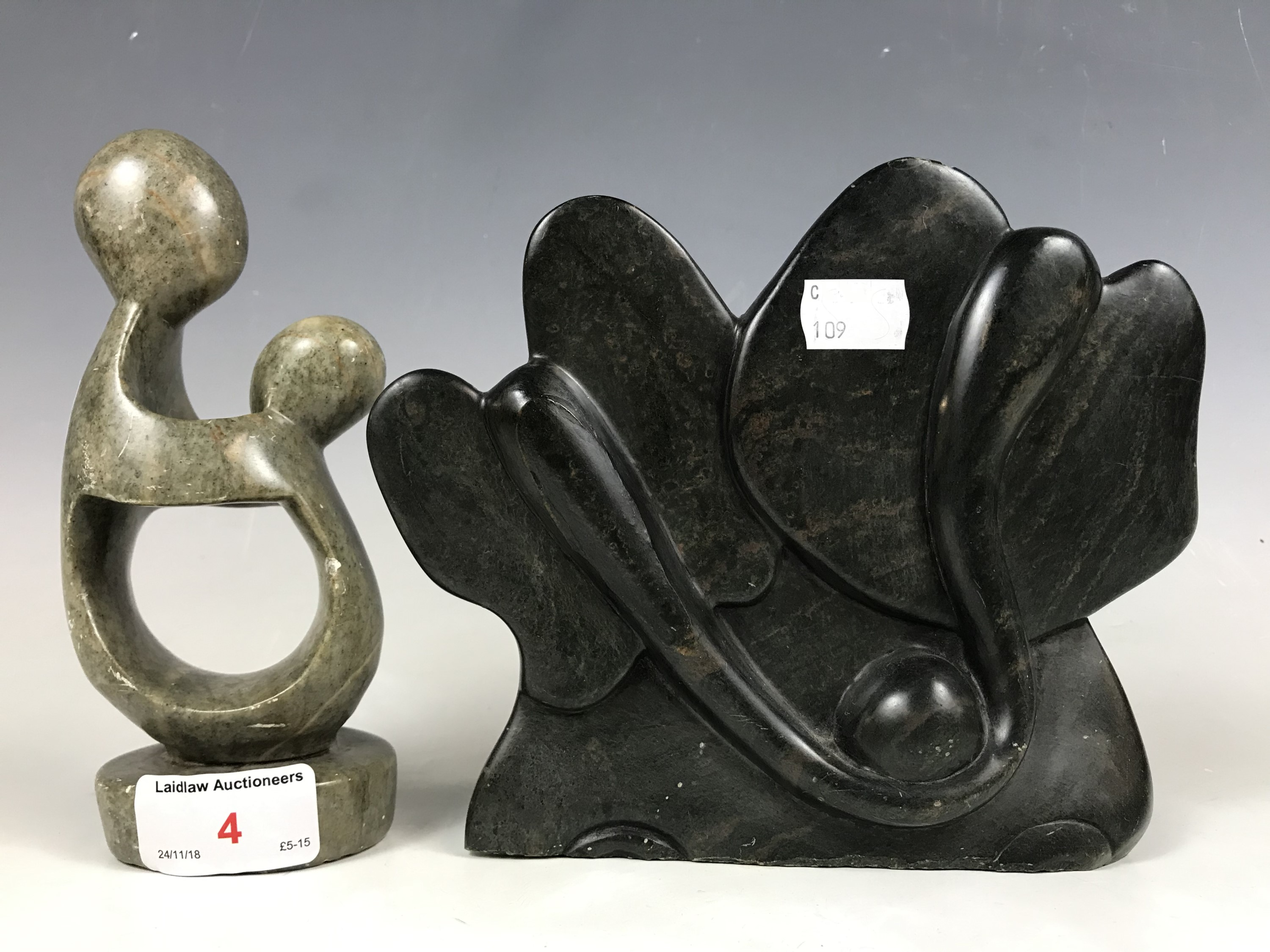 Lot 4 - Two soapstone figurines