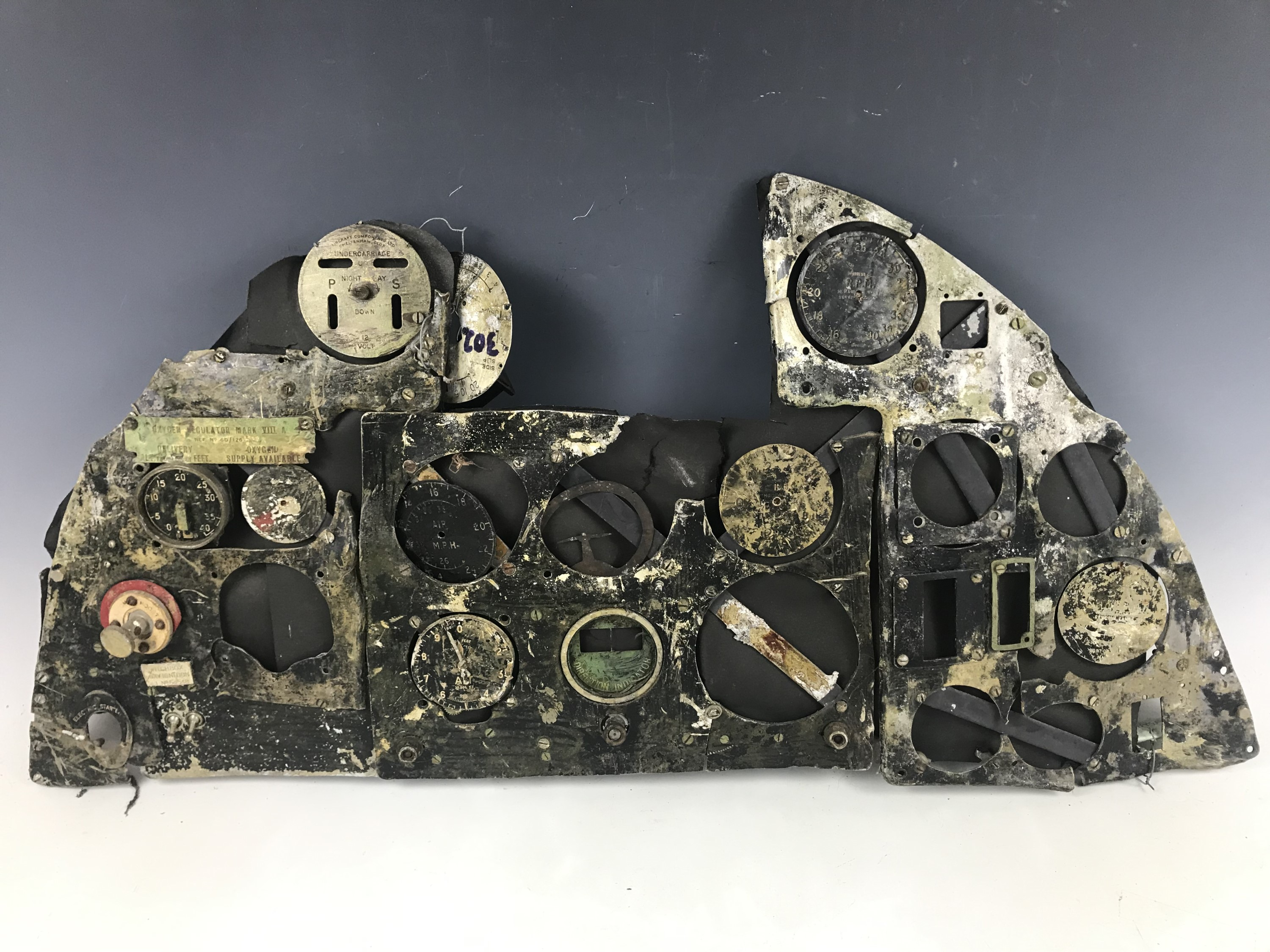 Lot 739 - A flying panel from a Hurricane of 229 Squadron (Northolt) , shot down at 9.30 am in September of