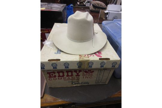 Eddy cowboy Stetson designed by Chris Eddy in original box 6029ec914d5