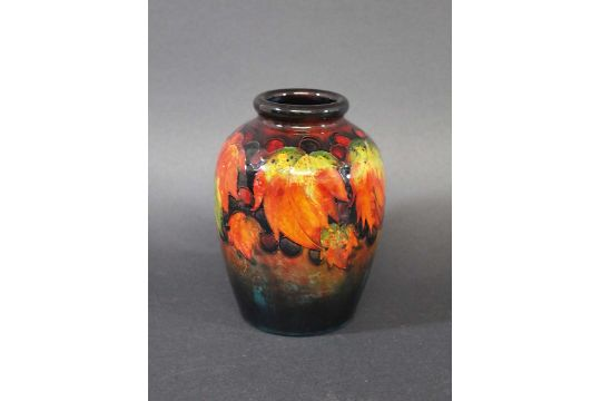 Moorcroft Flambe Vase A Moorcroft Vase Painted In The Leaf Berry
