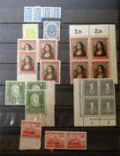 kleines Dublettenalbum BRD postfrisch, dabei z.B. 30 Pf Posthorn, viele Oberränder und Ecken