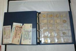 Münzalbum mit Umlaufmünzen, dabei z.B. Frankreich, USA, England, etc. Bitte besichtigen.