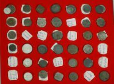 Notmünzen in Münzbox. ca 69 Stück. Dabei z.B..Wasser Alfingen, Wasserburg, Weiden, Weimar,