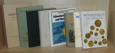 Konvolut Literatur, z.B. Die Saurmasche Münzsammlung, Goldmünzen Katalog, Schweizer Münzen und
