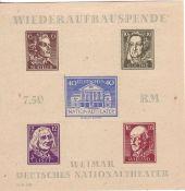 SBZ Thüringen, Block 3 B, Wiederaufbau - Spende. Postfrisch.