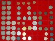 kleines Münzlot, meist Kaiserreich, dabei 1 x 1/2 Mark, sowie 21 x 1 Mark ab 1874. Verschiedene