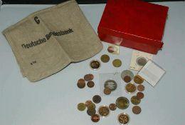 Lot Münzen meist BRD, teilweise vergoldet