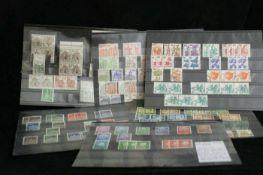 BRD, 7 Steckkarten mit Rollenmarken mit Nummer. Dauerserien. Michelwert 230 Euro