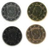 Prestigsatz Monaco 2012. 4x Fürst Albert IIB: Metall verziert mit Rotgold, Gelbgold, Ruthenium und