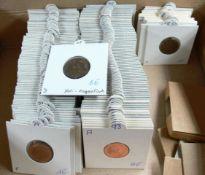 BRD 1950 - 96, Sammlung 2 Pfennig - Münzen jeweils aller Prägeanstalten (bis 1990: D, F, G, J. Ab