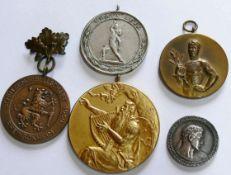Lot Sport - Medaillen, darunter B.D.R. 1925, 1928, Kraft Heil etc.