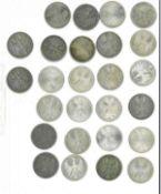 Lot 5 Mark Stücke BRD, dabei 21* 5 DM Silberadler, sowie weitere 5x 5 DM Stücke