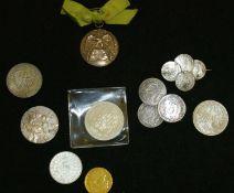 altes Lot Münzen und Medaillen. schöne Fundgrube, dabei auch Silber