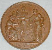 """Bronze Medaille Wien, """"Weltausstellung Wien 1873, Kaiser Franz Joseph I dem Verdienste, J."""