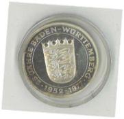 """1000er Silbermedaille, """"Die Staufer 1079-1268"""" 25 Jahre Baden Württemberg, in Feinsilber,"""