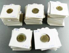 BRD 1949 - 96, Sammlung 5 Pfennig - Münzen jeweils aller Prägeanstalten (bis 1989: D, F, G, J. Ab