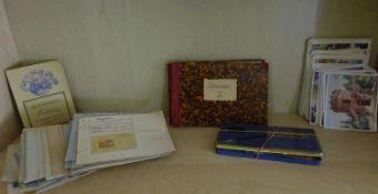 """Konvolut Briefmarken, Postkarten """"Resi Bildchen"""", etc. dabei Ägypten, Amerika, Chile, etc. Bitte"""