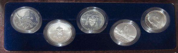 """Vatikan 1978-2008, Silber - Münz - Set """"30 Jahre 3 - Päpste - Jahr 1979 - 2008"""". Limitiert auf 300"""