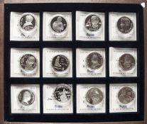 Sowjetunion 1989-1991, Sammlung Gedenk - Rubel - Münzen. Mit Zertifikaten. I Original - Holz -