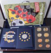 "Vatikan 2006, 3 x Probe - Euro - Münzsatz ""Benedikt XVI."" Dazu Deutschland 2002 ""Die ersten Euro -"
