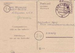 SBZ Mecklenburg - Vorpommern 1945, Mi. - Nr. P 897 II. Gelaufen von Ahrensberg nach Hamburg. O.
